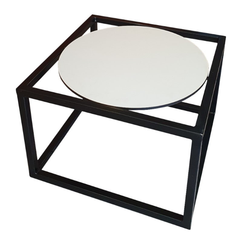 black and white coffee table