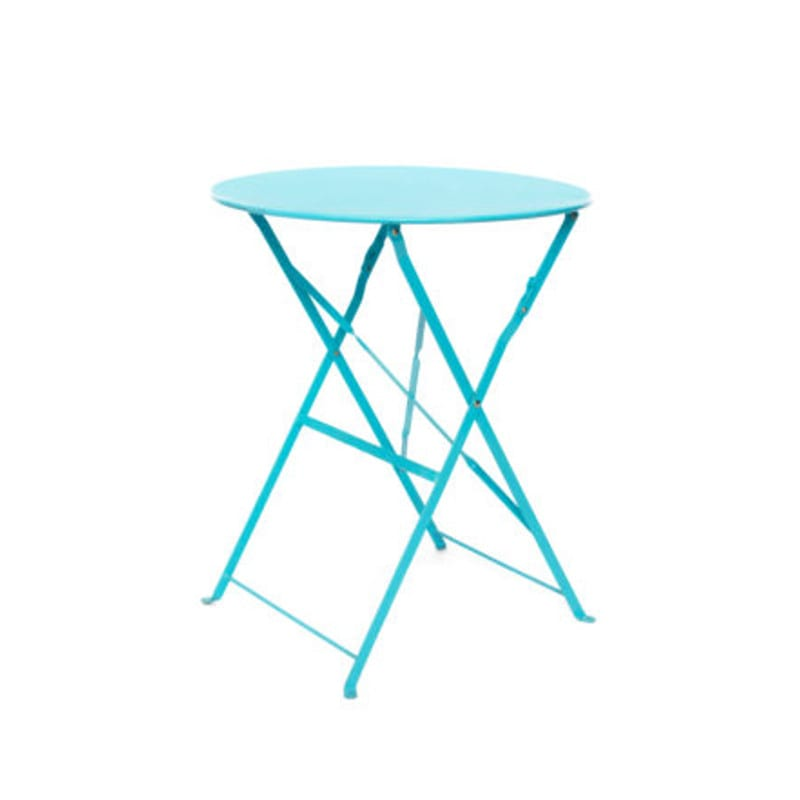 Botanical cafe table aqua blue