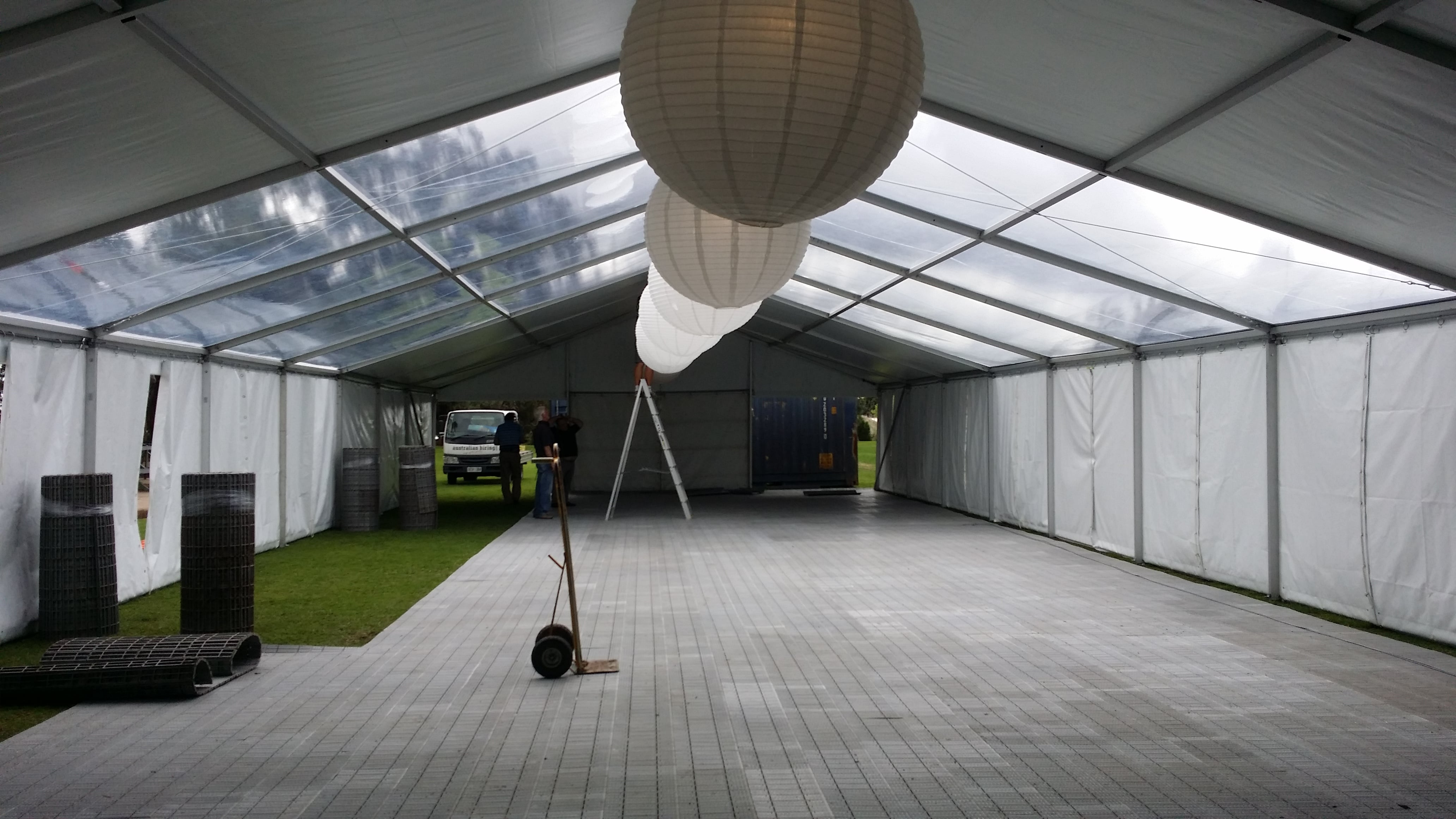 Rugby club pavilion installation