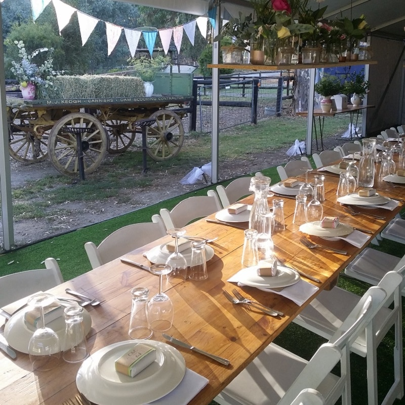 Wedding Hire Adelaide long reception tables