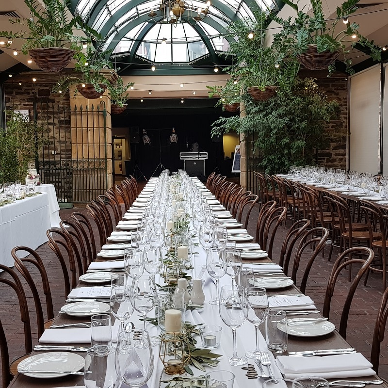 Wedding Hire Adelaide wedding at ayers house walnut bentwood chairs fairy lighting