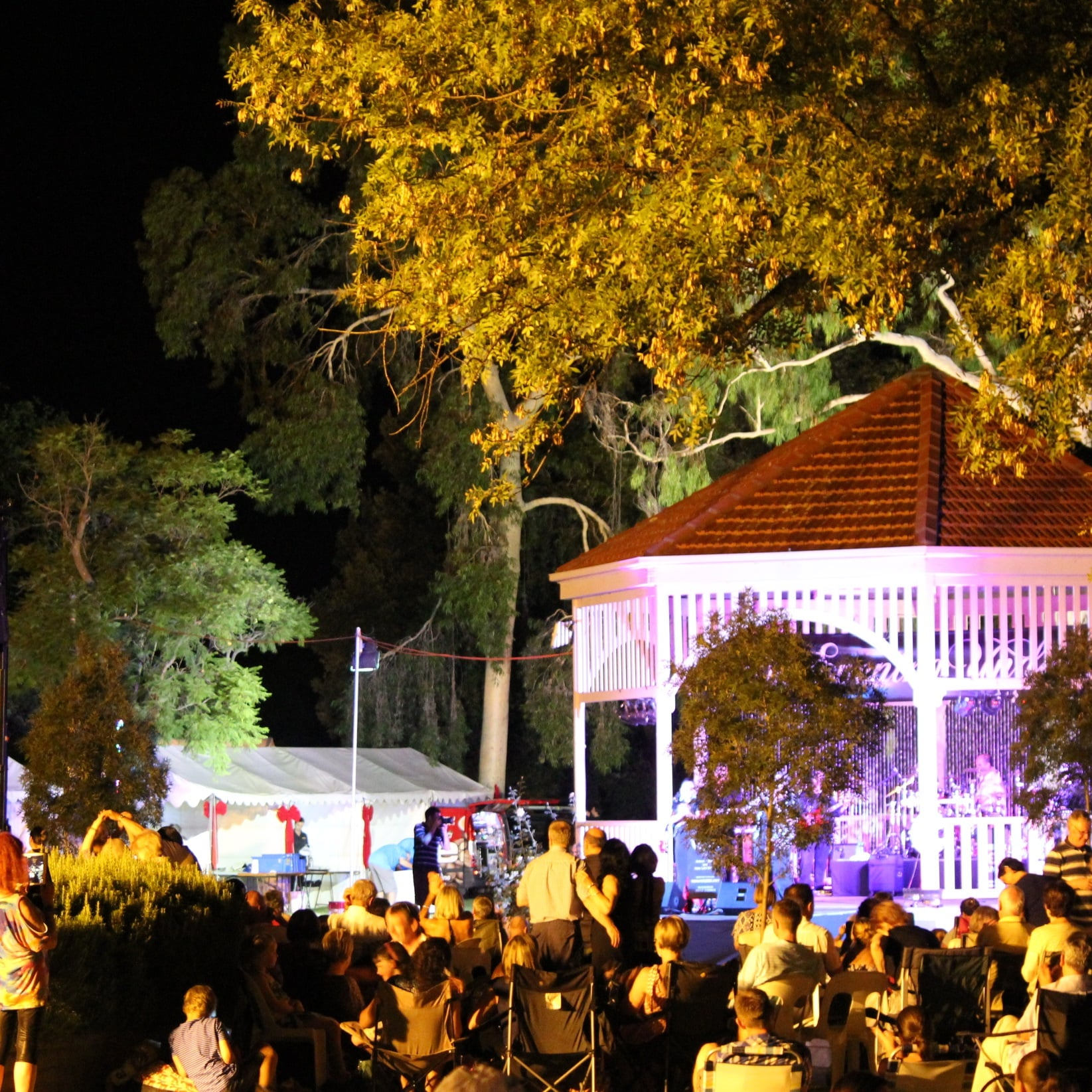 Unley traders event marquees for catering