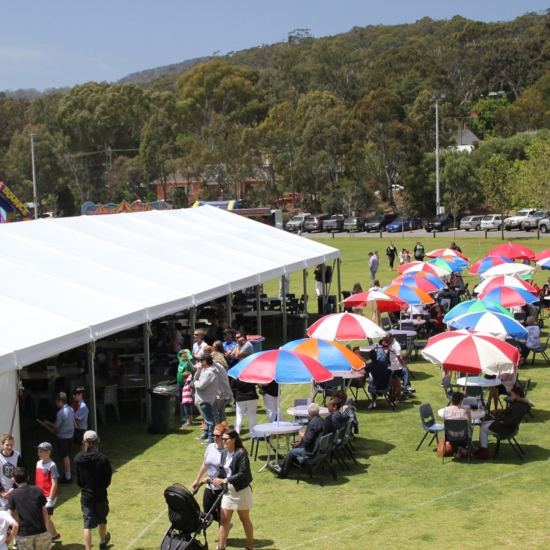 Pavilion Hire,Marquee and Pavilion Hire For Weddings, Functions & Events Pavilion Hire large marquee for school spring fair umbrellas