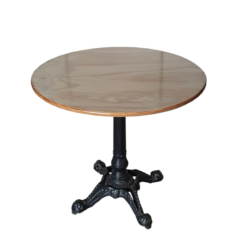cafe table that is seen in paris